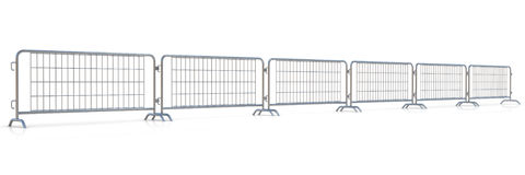 Steel barricades row Royalty Free Stock Photography
