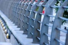 Steel Barriers. Long line of steel barriers Royalty Free Stock Photos