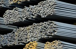 Steel Bars. Steel Reinforcement Bars used in construction Royalty Free Stock Photography