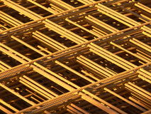 Steel Bars. A pile of rusted reinforcing steel bars Royalty Free Stock Image
