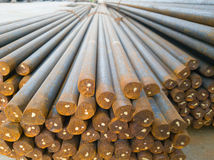 Steel bars awaiting Head and tail threading Royalty Free Stock Photo