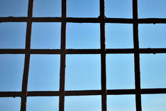 Steel bars and blue sky Royalty Free Stock Photos