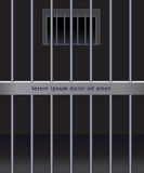 Steel bars of jail Stock Photos