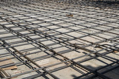 Steel bars mesh reinforcement Royalty Free Stock Images