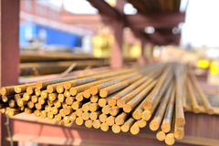 Steel bars in a pile Stock Photography