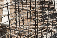 Steel bars. Reinforce concrete in construction Stock Images