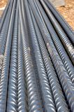 Steel bars for reinforced concrete structures Stock Image