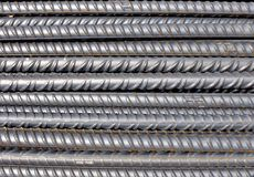 Steel bars for reinforced concrete structures Stock Photos