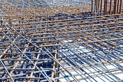 Steel bars for reinforcing concrete Royalty Free Stock Images