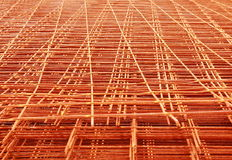 Steel Bars Stacked For Construction. Reinforcing steel bars for building Royalty Free Stock Photos