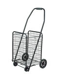 Steel basket with 4 wheels Stock Images