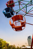 Steel basket and structure of ferris wheel. Steel basket and steel structure of ferris wheel Stock Photos