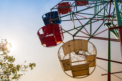 Steel basket and structure of ferris wheel. Steel basket and steel structure of ferris wheel Royalty Free Stock Photo