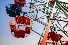Steel basket and structure of ferris wheel. Steel basket and steel structure of ferris wheel Stock Photography