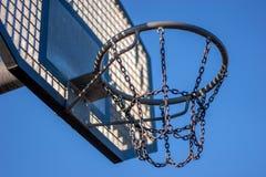 Steel basketball hoop Stock Photo