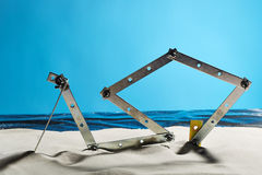 Steel on the beach Royalty Free Stock Photo