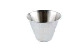 Steel beaker royalty free stock photo