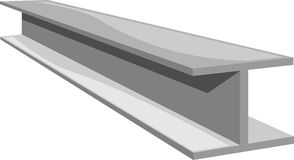 Steel beam. Silver steel beam in  format Stock Photography