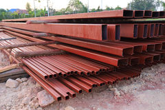 Steel beam in building Royalty Free Stock Images