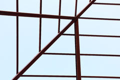 Steel beam in building construction Stock Images