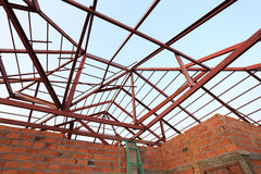 Steel beam in building construction Royalty Free Stock Photos