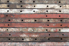Steel beam. Frame construction in site Stock Photography