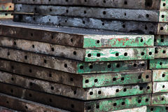 Steel beam. Frame construction in site Royalty Free Stock Photo