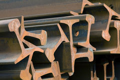 Steel Beams. Closeup lens background stock photos