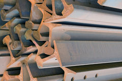 Steel Beams. Closeup lens background Stock Photography