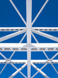 Steel beams against the blue sky Royalty Free Stock Photos