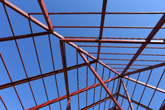 Steel beams construction site Stock Photography