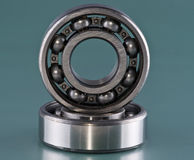 The steel bearing. Close up Stock Images