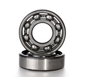 The steel bearing. It is photographed on a white background Royalty Free Stock Photos