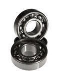 The steel bearing. It is photographed on a white background Stock Photo