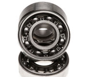 The steel bearing. It is photographed on a white background Royalty Free Stock Images