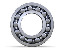 Steel bearing. One steel bearing over white Stock Images