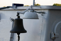 Steel bell. On ship in Rostov on Don Russia Stock Photo