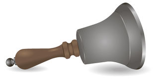 Steel bell wooden handle Stock Images