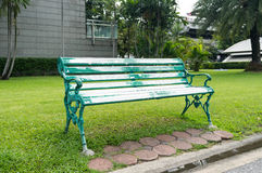 Steel Bench in Park Royalty Free Stock Images