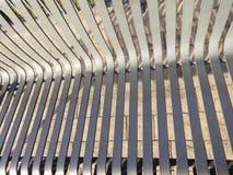 Steel bench slats Stock Photos