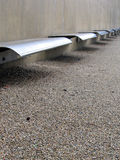 Steel Benches Royalty Free Stock Photography