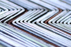 Steel bent detail Stock Photos