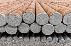 The steel billet in factory warehouse Royalty Free Stock Images