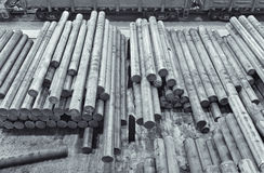 The steel billet in factory warehouse Royalty Free Stock Image