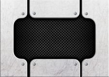 Steel black mesh on a background of metal bars, 3d, illustration vector illustration