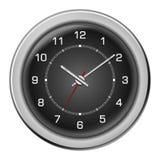 Steel black modern clock vector Stock Image
