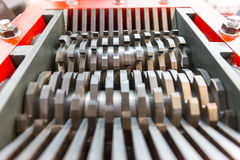 Steel blades of a cutting machine Royalty Free Stock Image