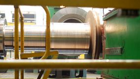 Steel blank for fabricating steam turbine of power generator. At metalworking factory stock footage