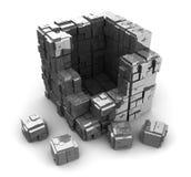 Steel blocks Stock Photos