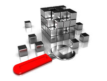 Steel blocks and wrench Royalty Free Stock Image